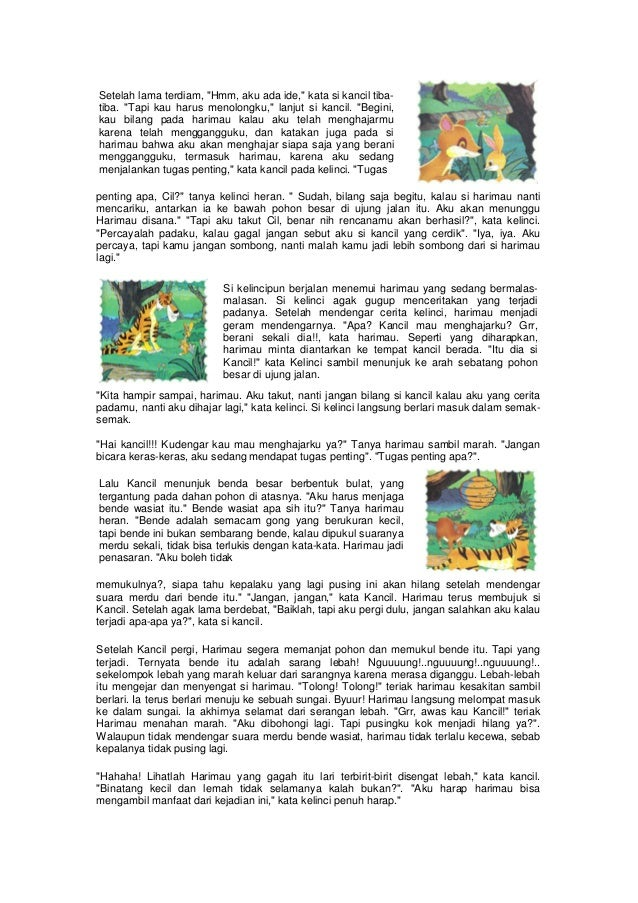 Contoh Fabel Kancil Dan Harimau Kabar Blok