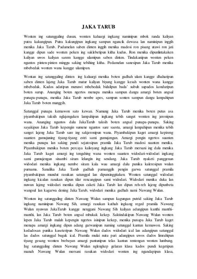 Kumpulan Cerita Rakyat Dalam Bahasa Jawa