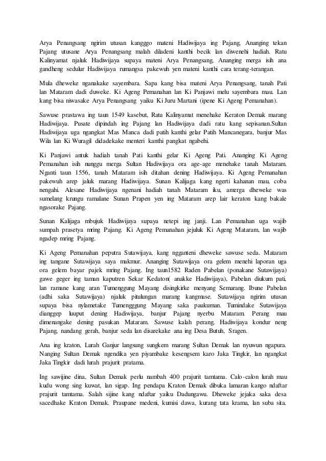 Contoh Cerita Rakyat Bahasa Jawa Singkat - Mar Contoh
