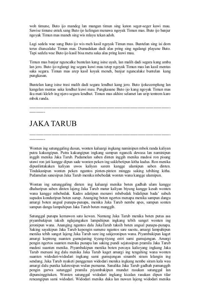 Cerita Rakyat Menggunakan Bahasa Jawa Ariska Compnet