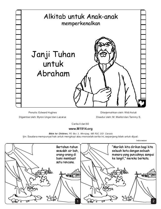 Cerita Rohani Hitam Putih Janji Tuhan Untuk Abraham
