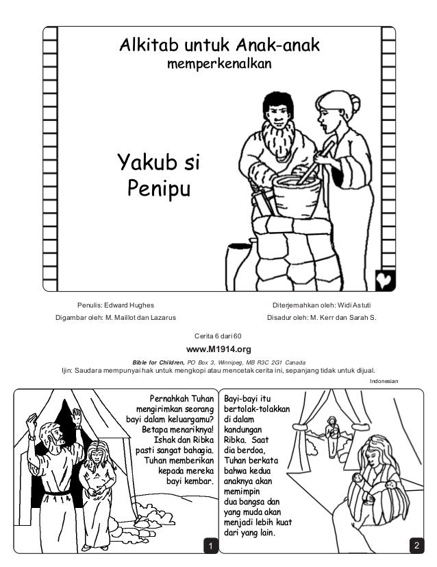 Cerita Rohani Hitam Putih Yakub Si Penipu