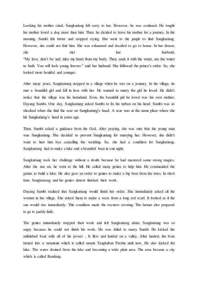 Cerita Timun Mas Dalam Bahasa Inggris