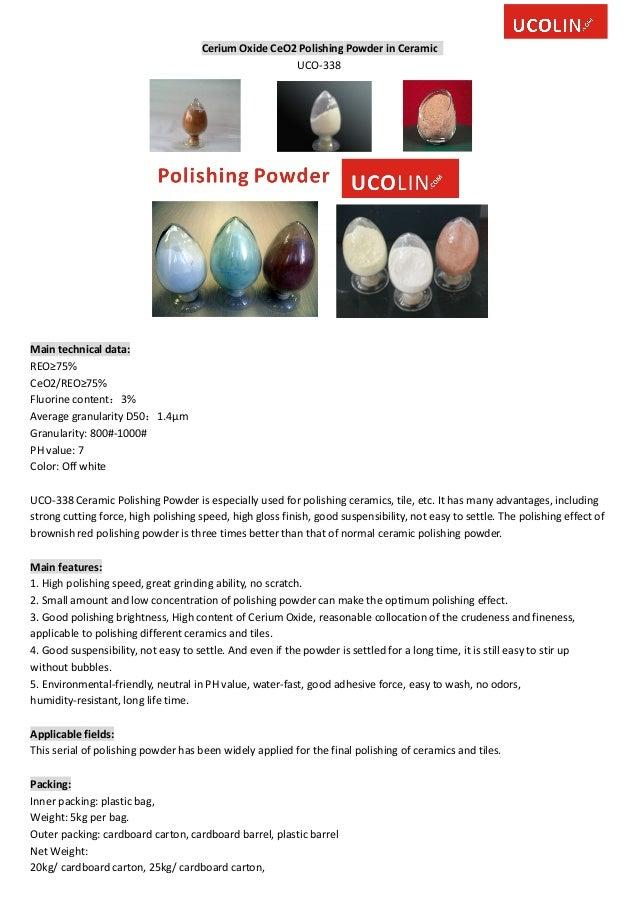 Cerium oxide ce o2 polishing powder in ceramic