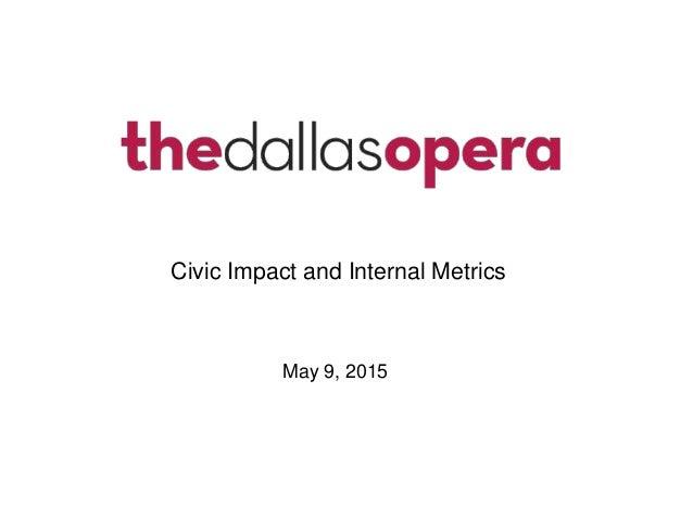 May 9, 2015 Civic Impact and Internal Metrics
