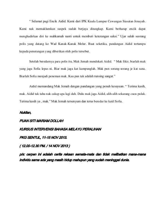 """"""" Selamat pagi Encik Aidid. Kami dari IPK Kuala Lumpur Cawangan Siasatan Jenayah. Kami nak memaklumkan suspek sudah berjay..."""