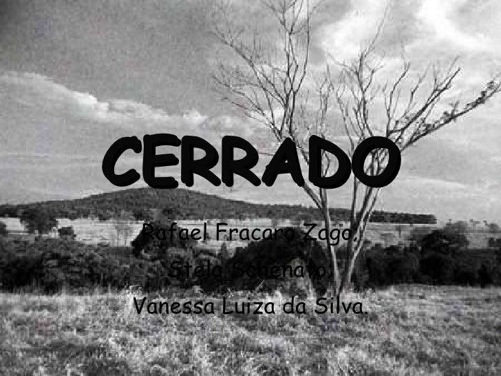 CERRADO Rafael Fracaro Zago; Stela Schenato; Vanessa Luiza da Silva.