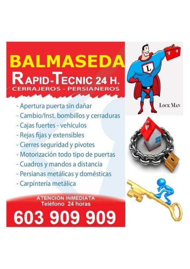"RAPlD-TECNIC 24 H.   "" CERRAJEROS - PEVRSIANEROS           - Apertura puerta sin dañar LOCK MAN — Cambio/ Inst.  bombillos..."