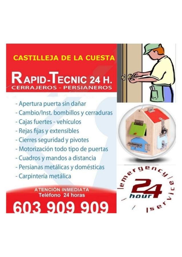 RAPiD-TECNIC 24 H.   CERRAJEROS - PERSIANEROS                       - Apertura puerta sin dañar — Cambio/ Inst.  bombillos...