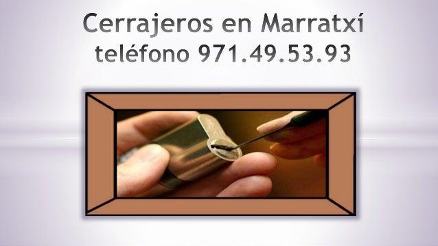 Servicio de Cerrajeros en Marratxí Contacte con nosotros