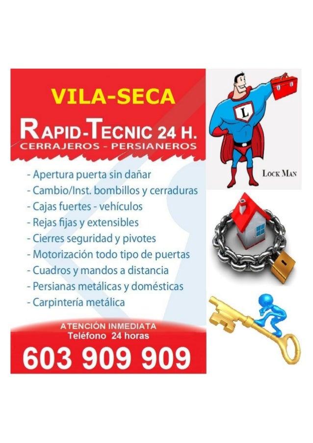 RAPID-TECNIC 24 H.    CERRAJEROS — PEVRSIANEROS           - Apertura puerta sin dañar LOCK MAN — Cambio/ Inst.  bombillos ...
