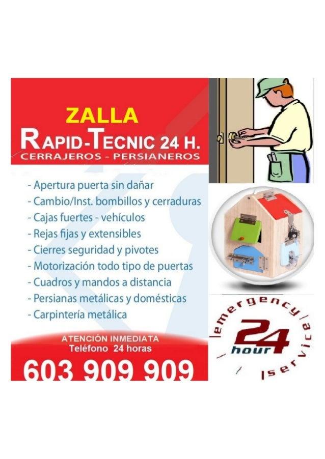 RAPID-TECNIC 24 H.   CERRAJEROS - PERSIANEROS                        - Apertura puerta sin dañar — Cambio/ lnst.  bombillo...