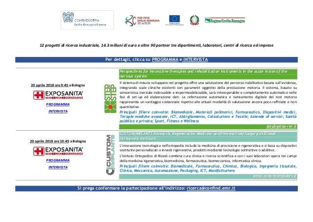 12 progetti di ricerca industriale, 14.3 milioni di euro e oltre 90 partner tra dipartimenti, laboratori, centri di ricerc...
