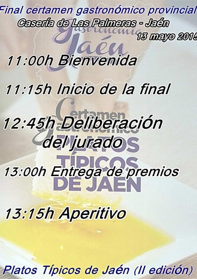 Final certamen gastronómico pro vino/ al áassmáz  a ¿aaa '  . ,  752m  7 7 :  Oüfzgyg/ gfiwewx/ da  f? '  77 :  7 5h Inicio...