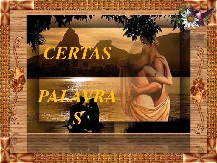 CERTASPALAVRA   S