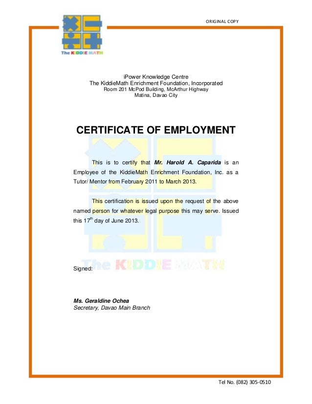 Employment Certificate Sample For Secretary Gallery Certificate Employment  Certificate Sample For Secretary Images Certificate Employment Certificate  Employee Working Certificate Format