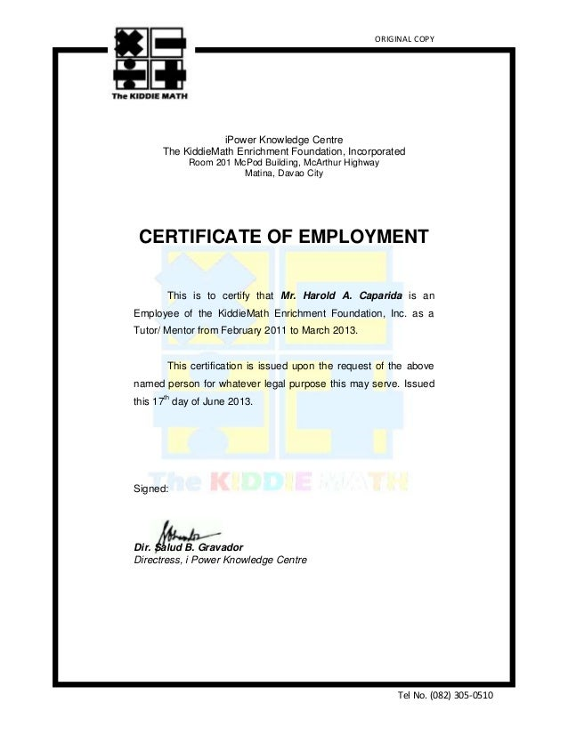 Sample employment certificate for travel purposes choice image sample employment certificate for travel purposes yadclub Image collections