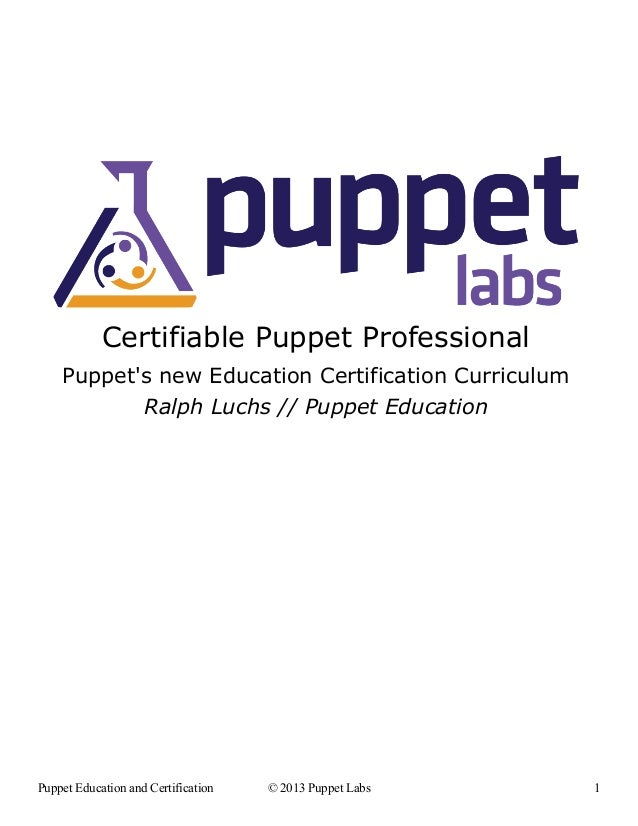 Certifiable Puppet Professional    Puppets new Education Certification Curriculum           Ralph Luchs // Puppet Educatio...