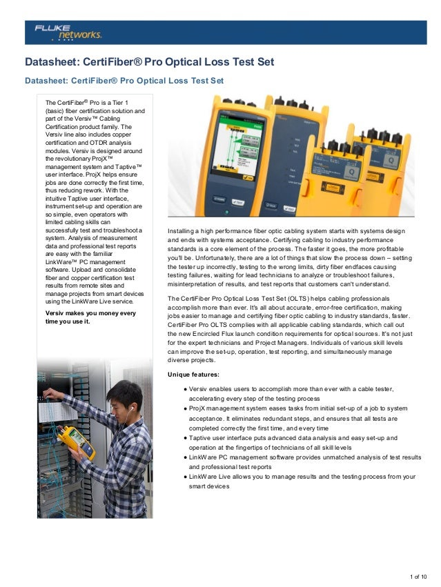 Fluke Networks SRC-9-SCSC-KIT Singlemode Test Reference Cord Kit for Optical Loss Testing of SC Terminated Fibers