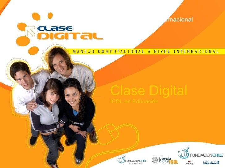 Clase Digital ICDL en Educación