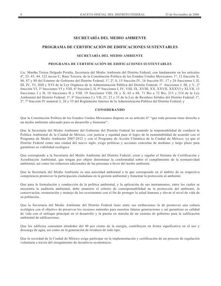 8                                         GACETA OFICIAL DEL DISTRITO FEDERAL                         25 de Noviembre de 2...