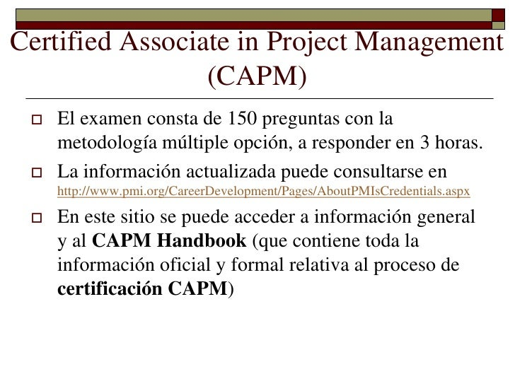 certified associate in project management capm The certified associate in project management (capm®) credential designed  specifically for project team members, the capm credential is aimed at.