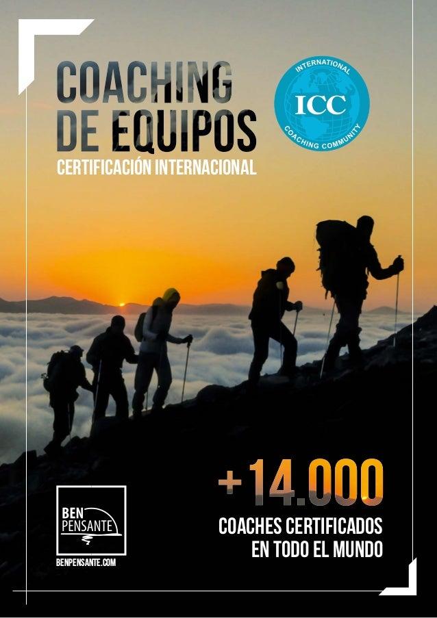 CERTIFICACIÓN INTERNACIONAL COACHes certificados en todo el mundo BenPensante.com