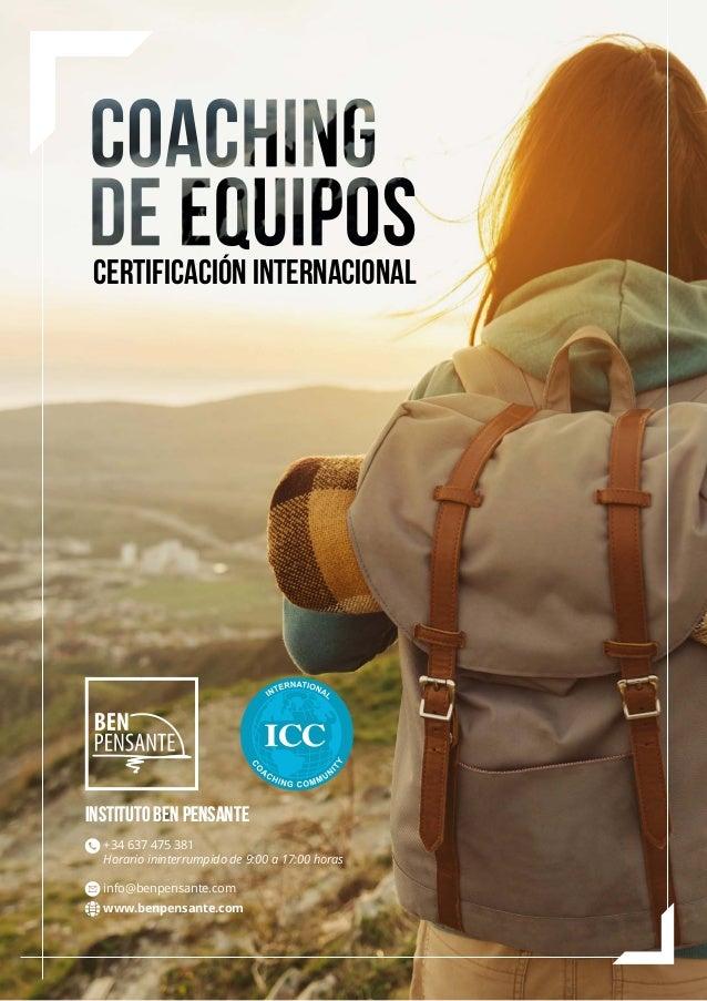 Instituto Ben Pensante +34 637 475 381 Horario ininterrumpido de 9:00 a 17:00 horas info@benpensante.com www.benpensante.c...