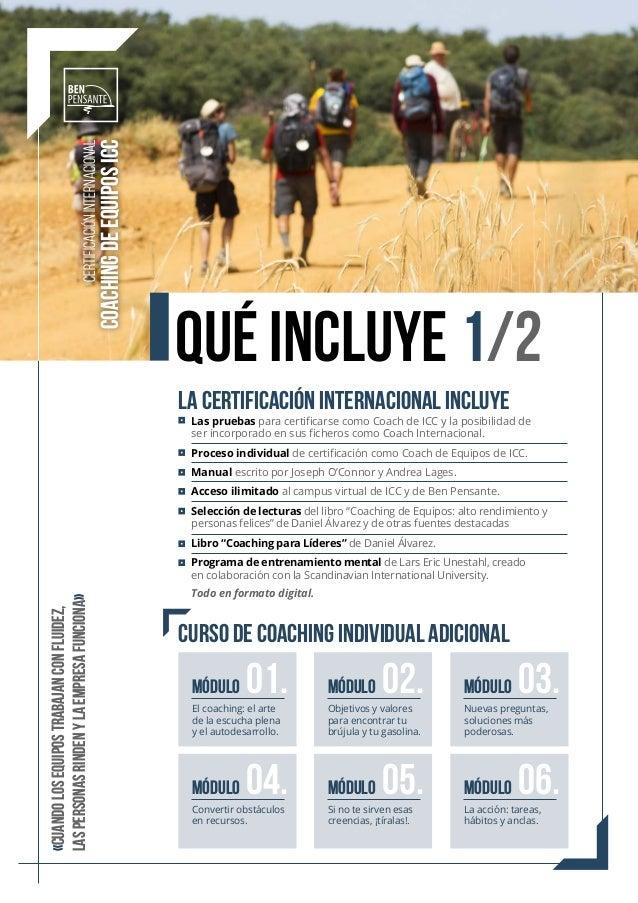 Las pruebas para certificarse como Coach de ICC y la posibilidad de ser incorporado en sus ficheros como Coach Internacion...