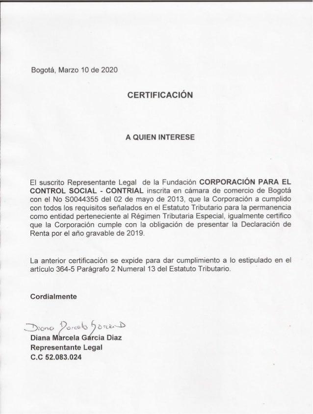 Certificación r. legal art 364 5 par 2 # 13