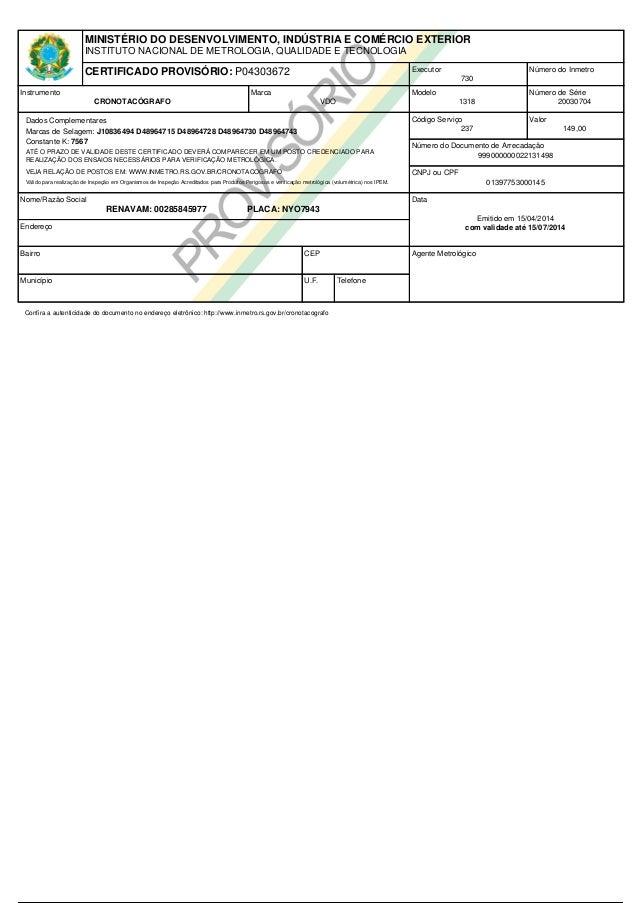 Certificado cbs-028 nyo-7943