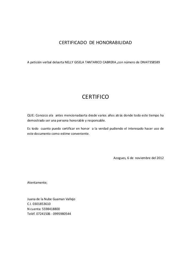 certificado de