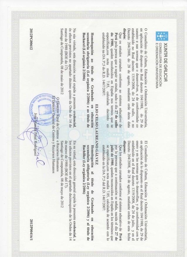 Certificado Bachillerato