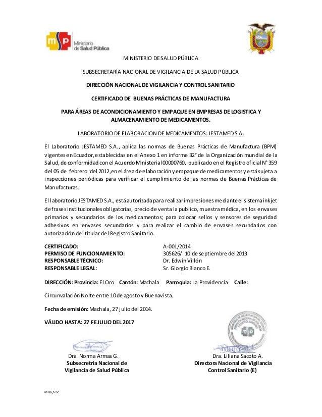 Certificado bpm for Certificado ministerio del interior