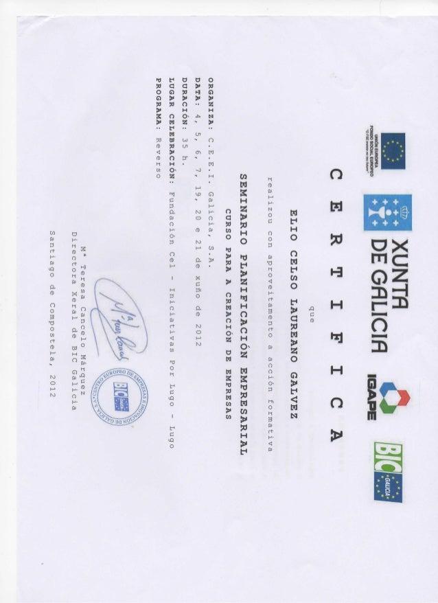 Certificado business plan cel