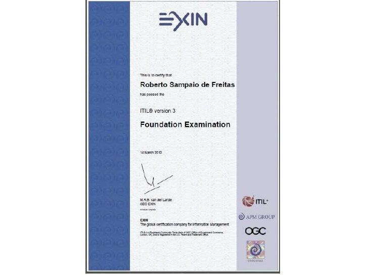 Certificado de Conclusão Treinamentos