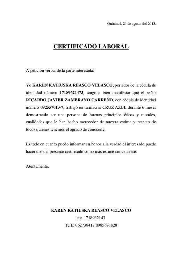 Certificado de laboral for Contrato laboral para empleadas domesticas