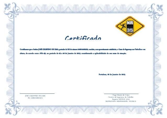 Certificado De Nr 35