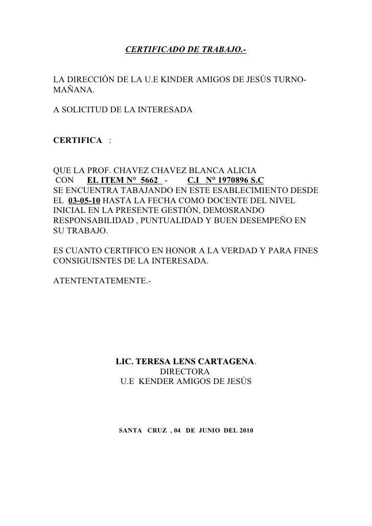 certificado de trabajo ni u00f1a
