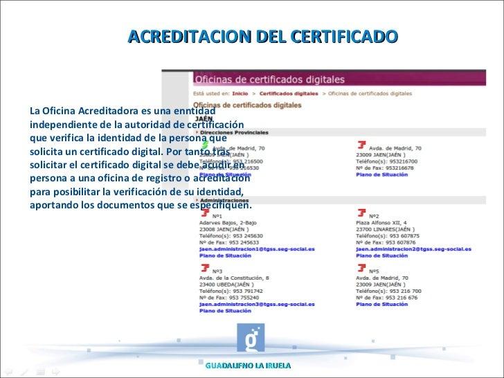 Tutorial sobre certificado digital for Oficinas certificado digital