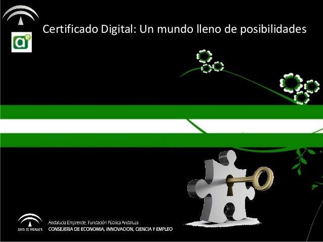Certificado Digital: Un mundo lleno de posibilidades