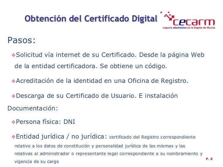 Taller cecarm certificado digital y factura electr nica for Oficina certificado digital