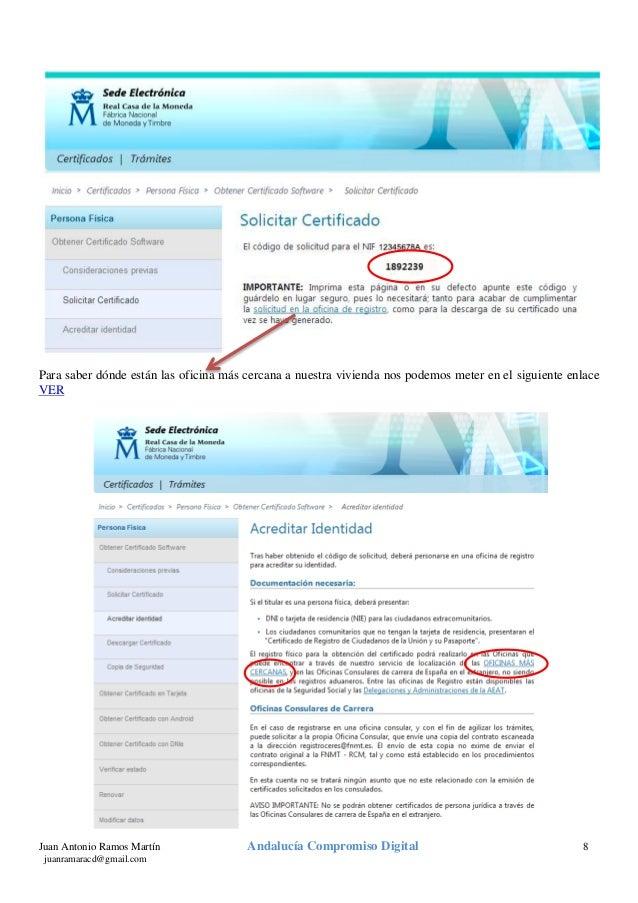 Certificado digital v2 0 for Oficina certificado digital