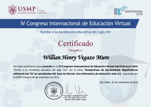 Certificado edu ticinnova 2014 ponente for Certificado ministerio del interior