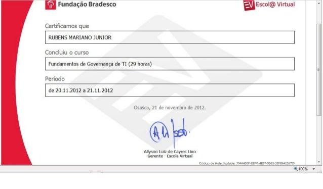 Certificado   Fundamentos De GovernançA De T.I.