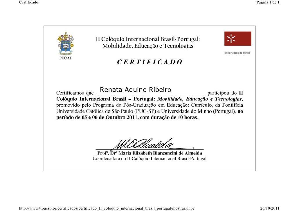 Certificado ii coloquio br pt pucsp univ minho