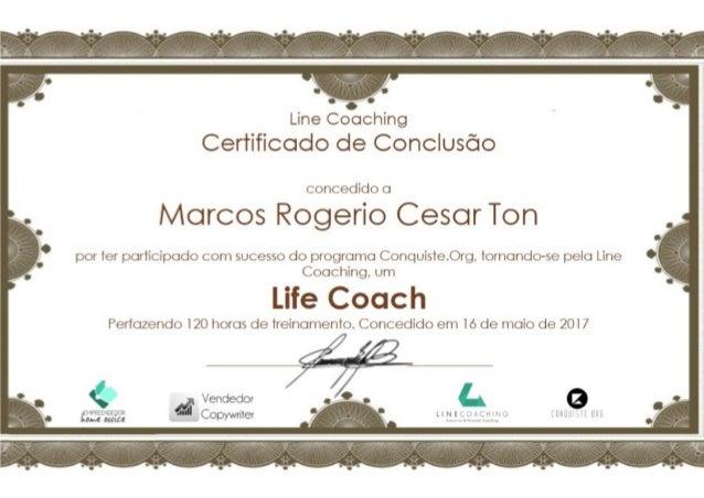 Certificado Life Coaching da Line Coaching