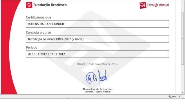 Certificado   Microsoft Office 2007