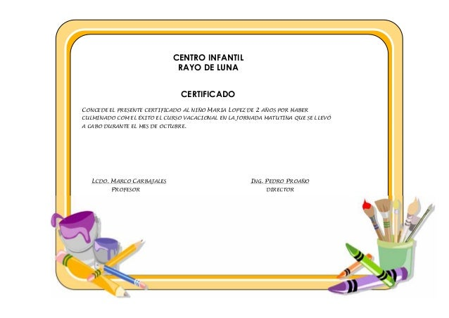 Certificado optativas