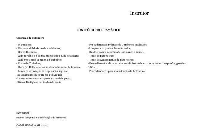 Certificado para treinamento de operador de betoneira   segurança do trabalho nwn Slide 2